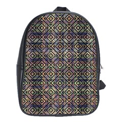 Multicolored Ethnic Check Seamless Pattern School Bags (xl)  by dflcprints