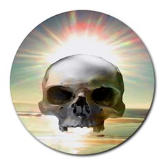 Skull Sunset Round Mousepads by icarusismartdesigns