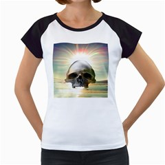 Skull Sunset Women s Cap Sleeve T by icarusismartdesigns