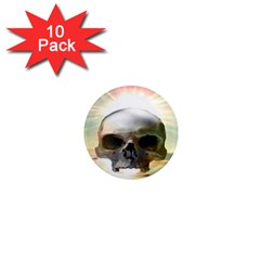 Skull Sunset 1  Mini Magnet (10 Pack)  by icarusismartdesigns