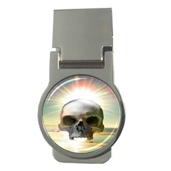 Skull Sunset Money Clips (round)  by icarusismartdesigns