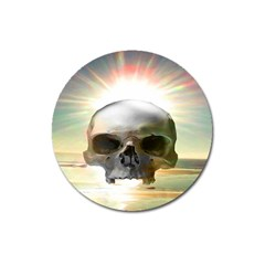 Skull Sunset Magnet 3  (round) by icarusismartdesigns