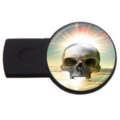Skull Sunset Usb Flash Drive Round (2 Gb)  by icarusismartdesigns
