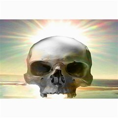 Skull Sunset Collage 12  X 18  by icarusismartdesigns