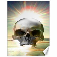 Skull Sunset Canvas 18  X 24   by icarusismartdesigns