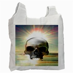 Skull Sunset Recycle Bag (one Side) by icarusismartdesigns
