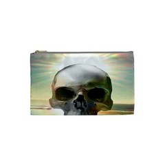 Skull Sunset Cosmetic Bag (small)  by icarusismartdesigns
