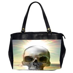 Skull Sunset Office Handbags (2 Sides)  by icarusismartdesigns