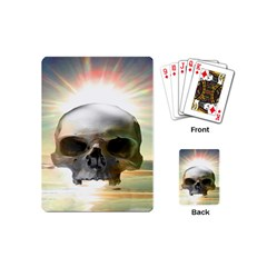 Skull Sunset Playing Cards (mini)  by icarusismartdesigns