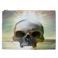 Skull Sunset Cosmetic Bag (xxl)  by icarusismartdesigns