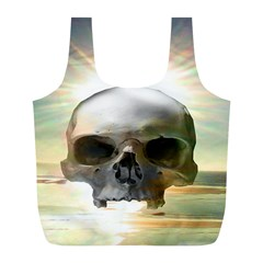 Skull Sunset Full Print Recycle Bags (l)  by icarusismartdesigns