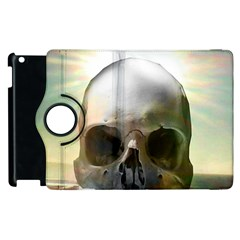 Skull Sunset Apple Ipad 3/4 Flip 360 Case by icarusismartdesigns