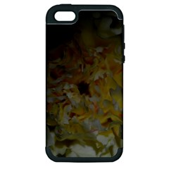 Yellow Flower Apple Iphone 5 Hardshell Case (pc+silicone) by timelessartoncanvas