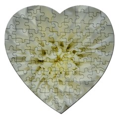 White Flowers Jigsaw Puzzle (heart)