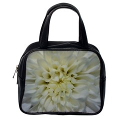 White Flowers Classic Handbags (one Side)