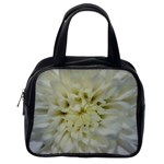 White Flowers Classic Handbags (One Side) Front