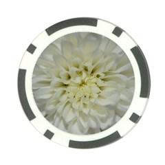 White Flowers Poker Chip Card Guards (10 Pack)  by timelessartoncanvas