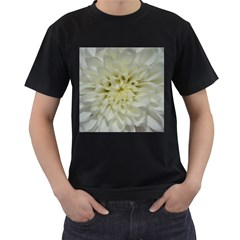 White Flowers Men s T-shirt (black) by timelessartoncanvas