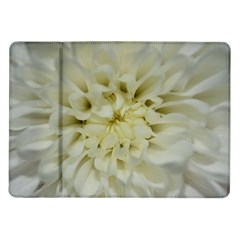 White Flowers Samsung Galaxy Tab 10 1  P7500 Flip Case by timelessartoncanvas