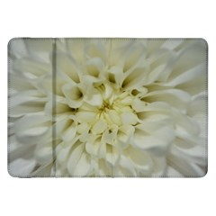 White Flowers Samsung Galaxy Tab 8 9  P7300 Flip Case by timelessartoncanvas