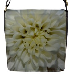 White Flowers Flap Messenger Bag (s) by timelessartoncanvas