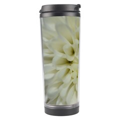 White Flowers Travel Tumblers by timelessartoncanvas