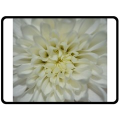 White Flowers Double Sided Fleece Blanket (large)  by timelessartoncanvas