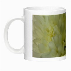 White Flowers 2 Night Luminous Mugs by timelessartoncanvas