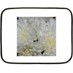 White Flowers 2 Fleece Blanket (mini) by timelessartoncanvas