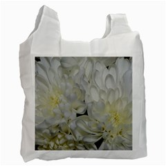 White Flowers 2 Recycle Bag (one Side) by timelessartoncanvas