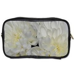 White Flowers 2 Toiletries Bags by timelessartoncanvas