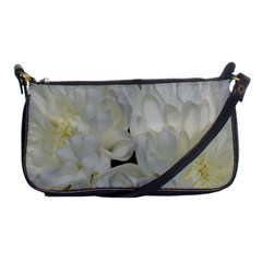 White Flowers 2 Shoulder Clutch Bags by timelessartoncanvas