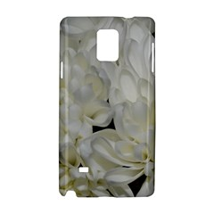 White Flowers 2 Samsung Galaxy Note 4 Hardshell Case by timelessartoncanvas