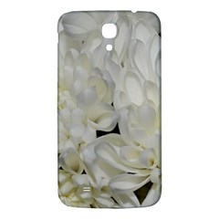 White Flowers 2 Samsung Galaxy Mega I9200 Hardshell Back Case by timelessartoncanvas