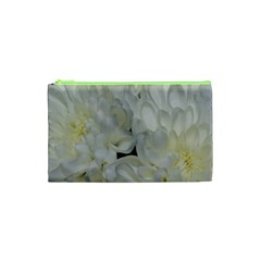 White Flowers 2 Cosmetic Bag (xs) by timelessartoncanvas