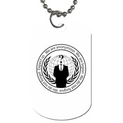 Anonymous Seal  Dog Tag (one Side)