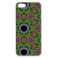 Repeated Geometric Circle Kaleidoscope Apple Seamless Iphone 5 Case (clear) by canvasngiftshop