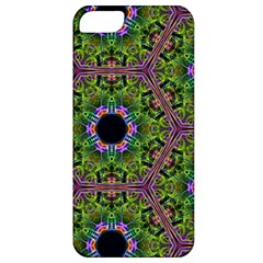 Repeated Geometric Circle Kaleidoscope Apple Iphone 5 Classic Hardshell Case by canvasngiftshop