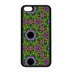 Repeated Geometric Circle Kaleidoscope Apple Iphone 5c Seamless Case (black)