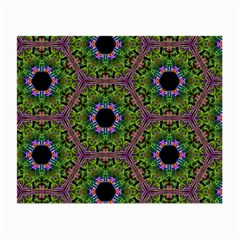 Repeated Geometric Circle Kaleidoscope Small Glasses Cloth (2 Side) by canvasngiftshop