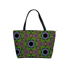 Repeated Geometric Circle Kaleidoscope Shoulder Handbags by canvasngiftshop