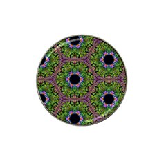 Repeated Geometric Circle Kaleidoscope Hat Clip Ball Marker (4 Pack) by canvasngiftshop