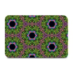 Repeated Geometric Circle Kaleidoscope Plate Mats by canvasngiftshop