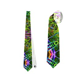 Repeated Geometric Circle Kaleidoscope Neckties (two Side)  by canvasngiftshop
