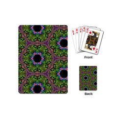Repeated Geometric Circle Kaleidoscope Playing Cards (mini)  by canvasngiftshop