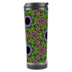 Repeated Geometric Circle Kaleidoscope Travel Tumblers by canvasngiftshop