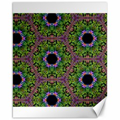 Repeated Geometric Circle Kaleidoscope Canvas 16  X 20