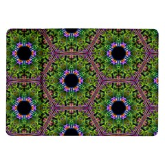 Repeated Geometric Circle Kaleidoscope Samsung Galaxy Tab 10 1  P7500 Flip Case by canvasngiftshop