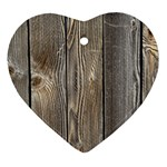 WOOD FENCE Heart Ornament (2 Sides) Back