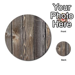 Wood Fence Multi Purpose Cards (round)  by trendistuff